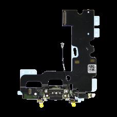Нижний шлейф порта зарядки iPhone 7 Черный (Black), Оригинал