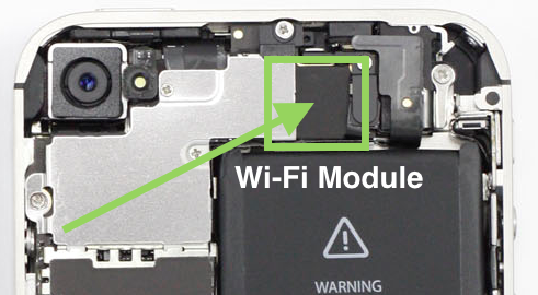 Замена wifi модуля на iphone 4s