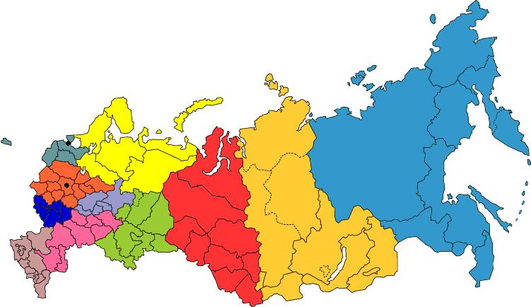 Россия - пункты выдачи заказов в крупных городах