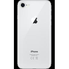 Задняя крышка iPhone 8 Серебряная, Белая (Silver, White),