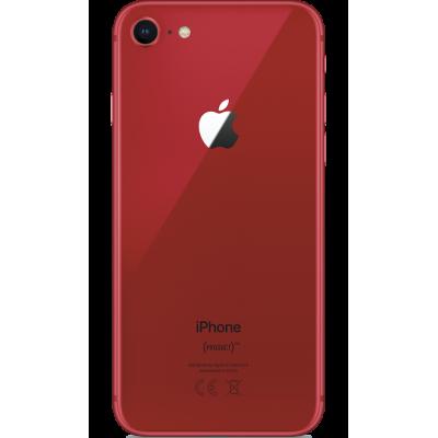 Купить стеклянную пластинку корпуса iPhone 8 красная (Product Red) оригинал
