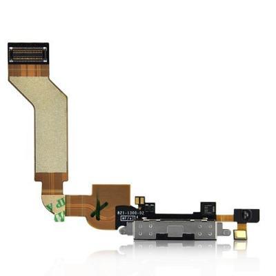 Шлейф порта зарядки iPhone 4S оригинал (черный)