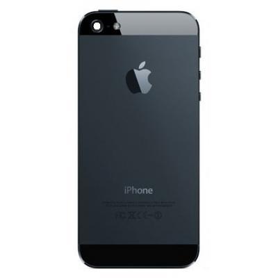 Корпус iPhone 5 (задняя крышка): черный, оригинал