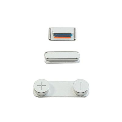 Набор кнопок для iPhone 5S Silver оригинал