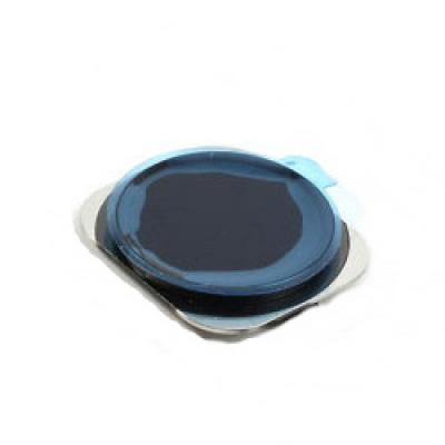 Стекло кнопки Home iPhone 5S с ободком оригинал SpaceGray