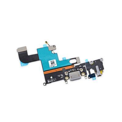 Нижний шлейф порта зарядки с микрофоном и аудио выходом для iPhone 6S Plus (белый)