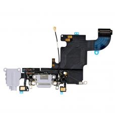 Нижний шлейф порта зарядки и аудио разъёма для iPhone 6S белый оригинал