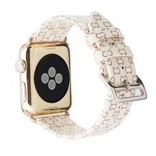 Кожаный ремешок Gucci leather Band 42мм 44мм для Apple Watch Белый