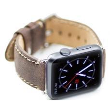 Ремень из эко-кожи New 42мм 44мм для Apple Watch Коричневый