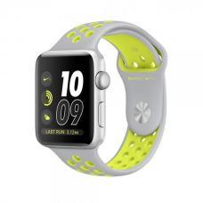 Силиконовый ремешок Nike 42мм 44мм для Apple Watch Желтый