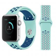 Силиконовый ремешок Nike 42мм 44мм для Apple Watch Голубой