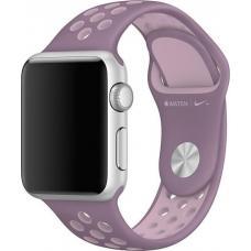 Силиконовый ремешок Nike 42мм 44мм для Apple Watch Сиреневый