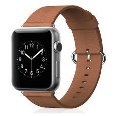 Кожаный ремень Premium 42мм 44мм для Apple Watch Коричневый