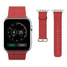 Кожаный ремень Premium 42мм 44мм для Apple Watch Красный