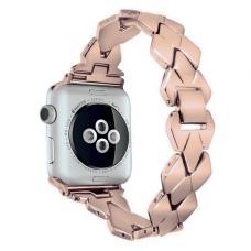 Металлический ремешок Braid Band 42мм 44мм для Apple Watch Розовый