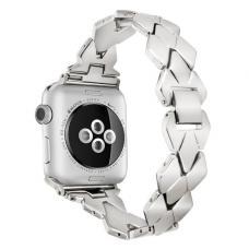 Металлический ремешок Braid Band 42мм 44мм для Apple Watch Серебренный