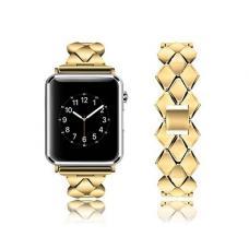Металлический ремешок Braid Band 42мм 44мм для Apple Watch Золотой