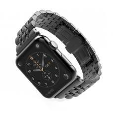 Металлический ремешок Metall Band 42мм 44мм для Apple Watch Черный