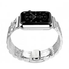 Металлический ремешок Metall Band 42мм 44мм для Apple Watch Серебристый