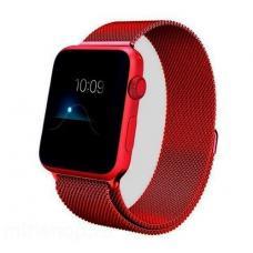 Металлический ремешок Milanese loop 38мм-40мм для Apple Watch Красный