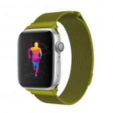 Металлический ремешок Milanese loop 38мм-40мм для Apple Watch Зеленый
