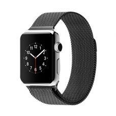 Металлический ремешок Milanese loop 38мм-40мм для Apple Watch Черный