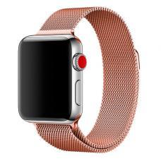 Металлический ремешок Milanese loop 38мм-40мм для Apple Watch Коричневый