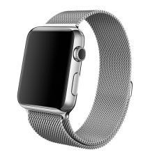 Металлический ремешок Milanese loop 38мм-40мм для Apple Watch Серебристый