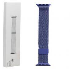 Металлический ремешок Milanese loop 38мм-40мм для Apple Watch Синий