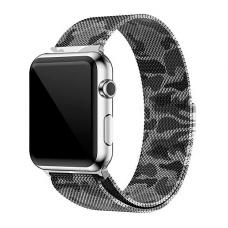 Металлический ремешок Milanese loop Band 38мм-40мм для Apple Watch Хаки