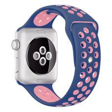 Силиконовый ремешок Nike 38мм- 40мм для Apple Watch Черный с розовым
