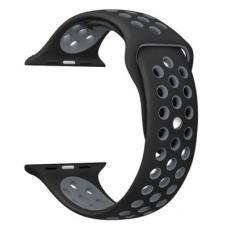 Силиконовый ремешок Nike 42мм 44мм для Apple Watch Черный