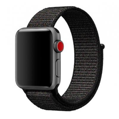 Нейлоновый ремешок Nylon loop 38мм-40мм для Apple Watch Черный