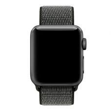 Нейлоновый ремешок Nylon loop 42мм 44мм для Apple Watch Черный с серым