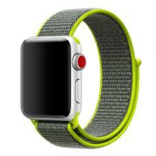 Нейлоновый ремешок Nylon loop 42мм 44мм для Apple Watch Черный с зеленым