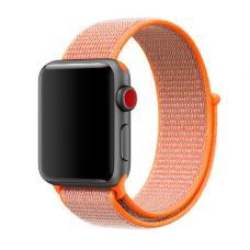 Нейлоновый ремешок Nylon loop 42мм 44мм для Apple Watch Оранжевый