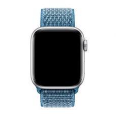 Нейлоновый ремешок Nylon loop 42мм 44мм для Apple Watch Синий
