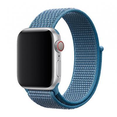 Нейлоновый ремешок Nylon loop 38мм-40мм для Apple Watch Синий