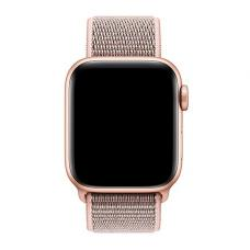 Нейлоновый ремешок Nylon loop 42мм 44мм для Apple Watch Бежевый