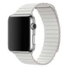 Кожаный ремешок PU Leather Band 42мм 44мм для Apple Watch Белый