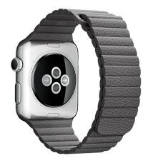 Кожаный ремешок PU Leather Band 42мм 44мм для Apple Watch Коричневый