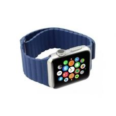 Кожаный ремешок PU Leather Band 42мм 44мм для Apple Watch Синий