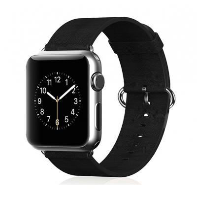 Кожаный ремень Premium 38мм-40мм для Apple Watch Черный