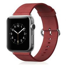 Кожаный ремень Premium 38мм-40мм для Apple Watch Красный