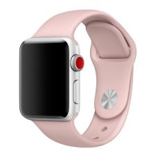Силиконовый ремешок Sport Band 42мм 44мм для Apple Watch Бежевый
