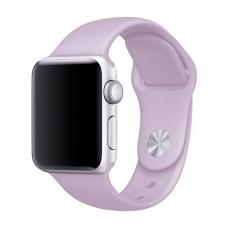Силиконовый ремешок Sport Band 42мм 44мм для Apple Watch Сиреневый