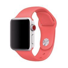 Силиконовый ремешок Sport Band 42мм 44мм для Apple Watch Красный