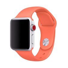Силиконовый ремешок Sport Band 42мм 44мм для Apple Watch Оранжевый