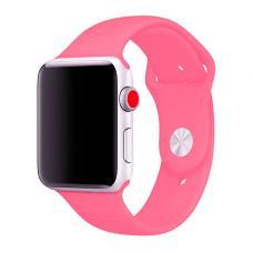 Силиконовый ремешок Sport Band 42мм 44мм для Apple Watch Розовый