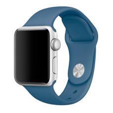 Силиконовый ремешок Sport Band 42мм 44мм для Apple Watch Синий